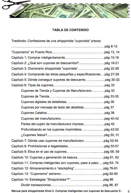 Si buscas una mejor economía en tus finanzas personales al momento de comprar, este libro te dará las herramientas, técnicas y estrategias para ahorrar dinero en tus compras inteligentes. Podrás ahorrar desde un 50% a un 100%, o sea conseguirás cosas gratis, con cupones de descuento en Puerto Rico y Estados Unidos.