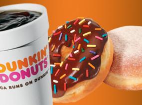 Café Gratis en Dunkin Donuts 1 día* Condiciones aplican