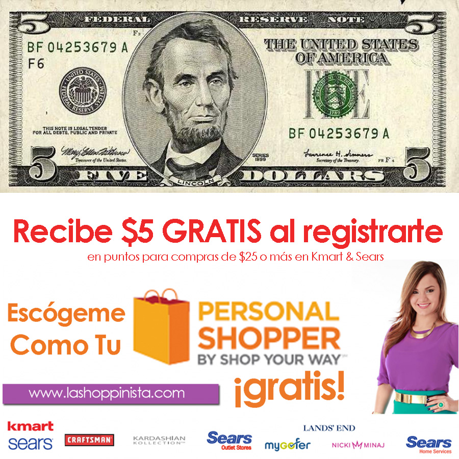 $5 personal shopper shop your way kmart y sears