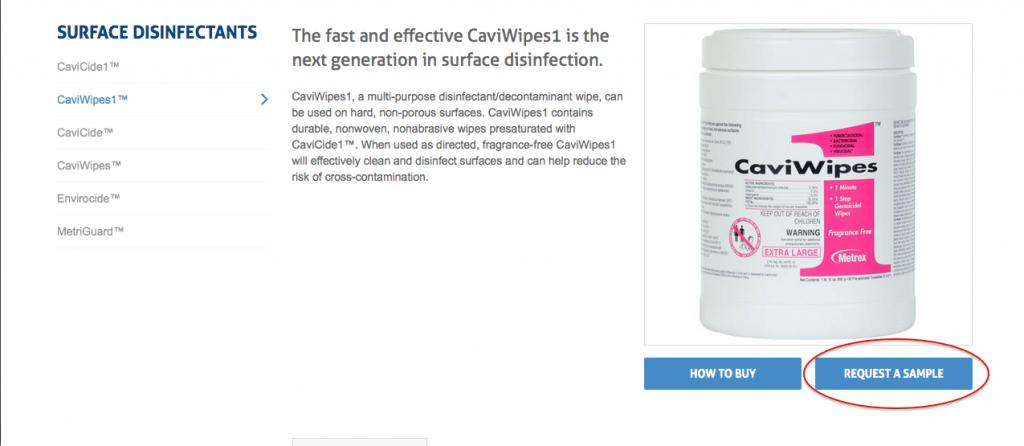 CaviWipes Ejemplo 1