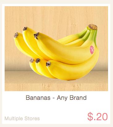 Rebate Ibotta - Bananas