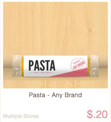 ibotta rebate pasta