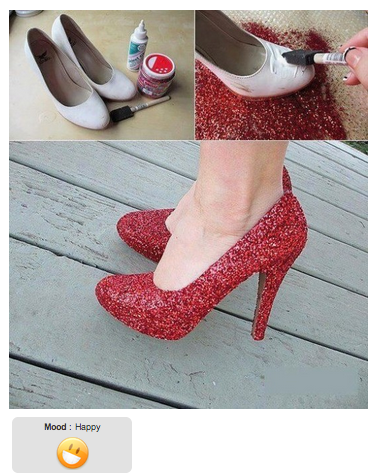 Diy hazlo t mismo decorar zapatos con brillo la for Decora tu casa tu mismo