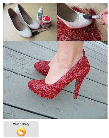 Diy hazlo t mismo decorar zapatos con brillo la for Como decorar tu casa tu mismo