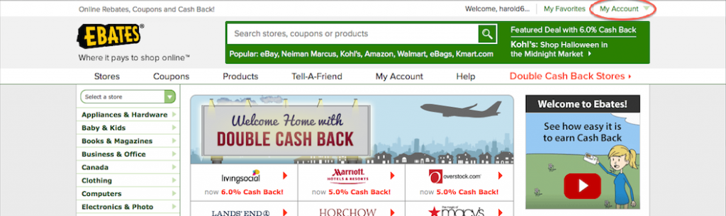 how to delete my ebates account