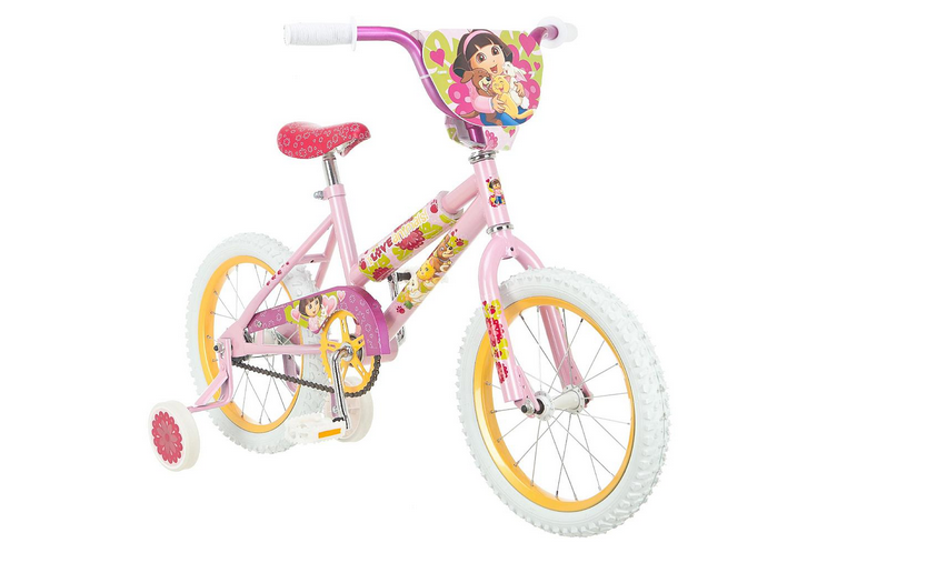 "16"" Girl's Dora Loves Puppy Sidewalk Bike - shopper kmart"