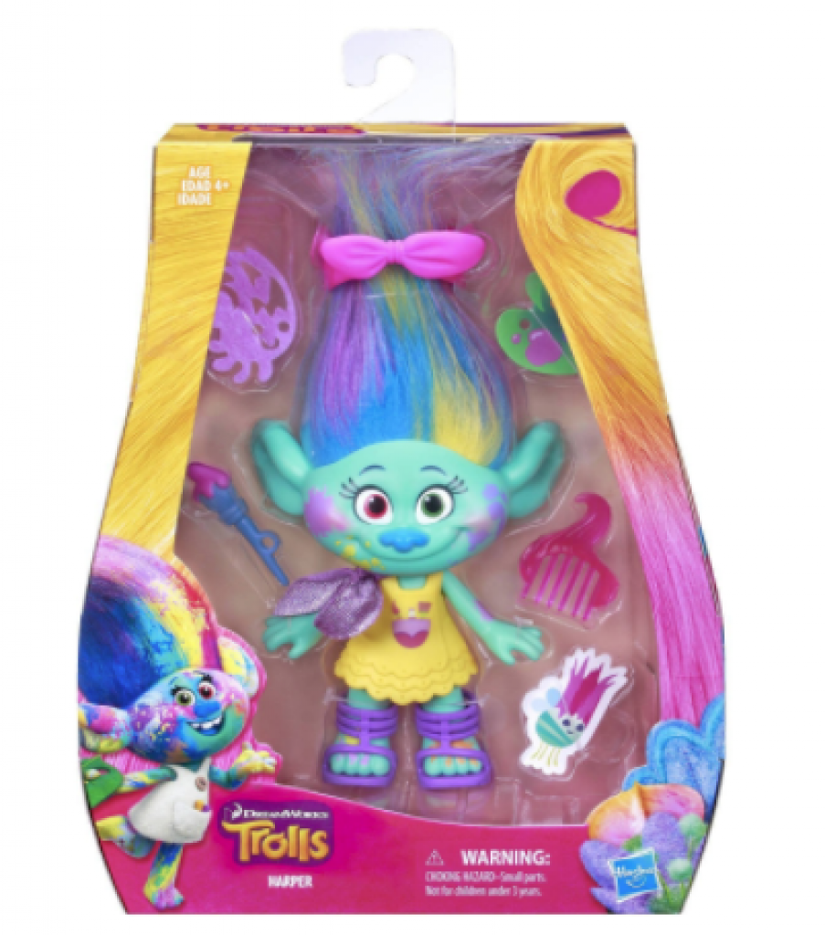 "DreamWorks Trolls Harper 9"" Figure Comes with a Comb, Removable Outfit and Fabulous Accessories"