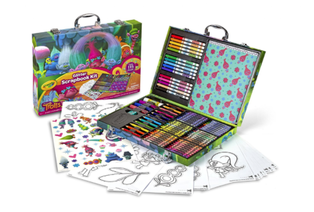 Crayola; Trolls Glitter Scrapbook Kit; Art Tools for Scrapbooking Activities; over 125 Pieces; Great Gift