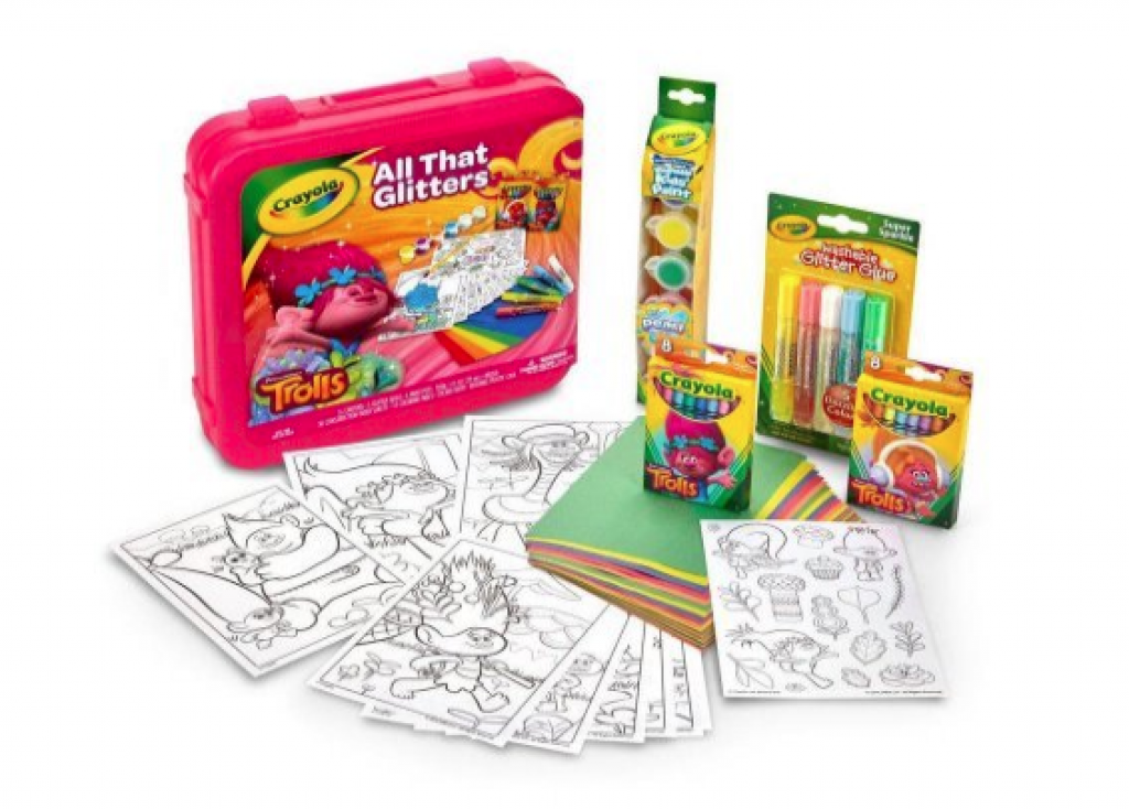 Click to open expanded view Crayola Dreamworks Trolls All That Glitters Coloring Kit