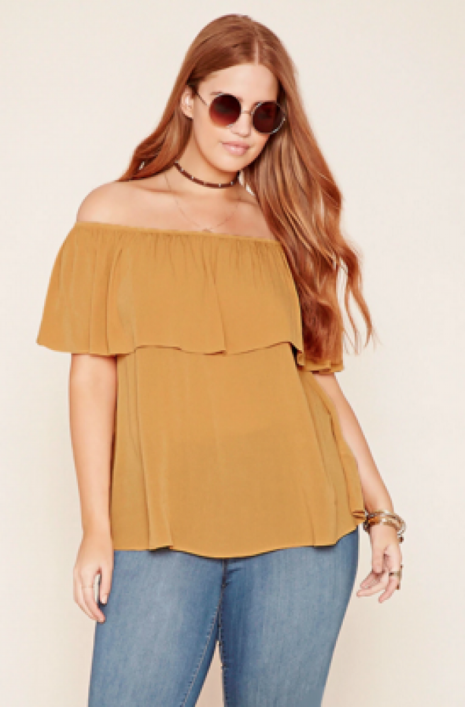 off shoulder plus woman top