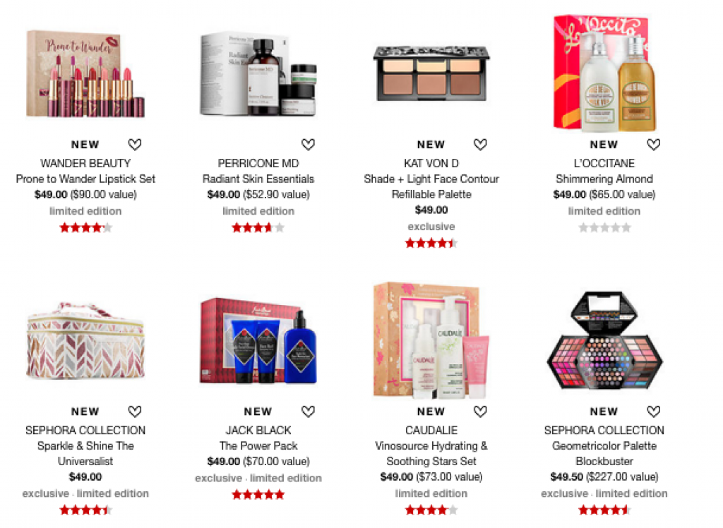 Sephora Christmas or Birthday Gifts $50 or Less