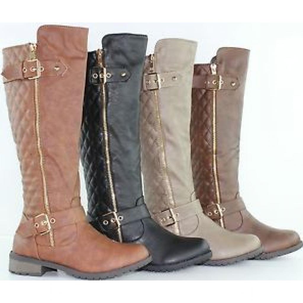 Women's Fashion Knee High Flat Heel Riding Boots