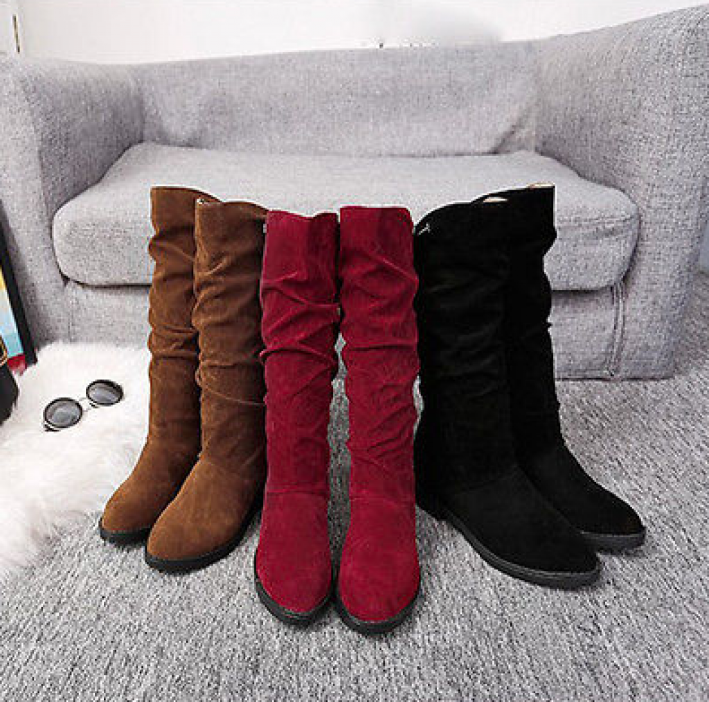 Fashion Womens Winter Warm Sweet Snow Boots Lace Up Mid Calf Ankle Boots Shoes