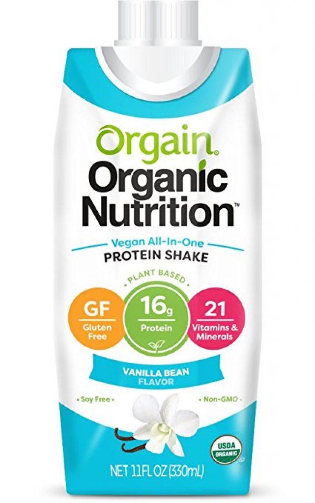 Orgain Plant Based Organic Vegan Nutrition Shake Vainilla