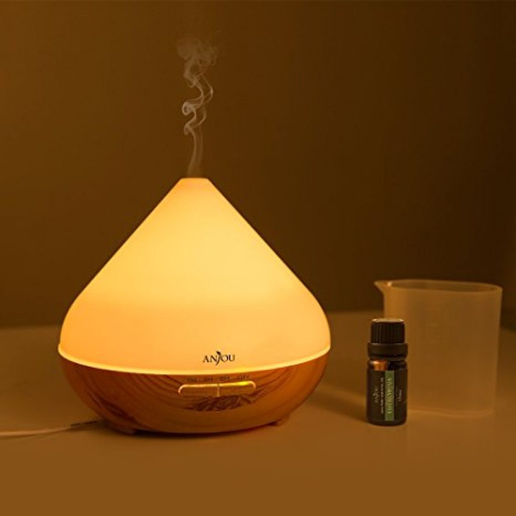 Essential Oil Diffuser 300ml Anjou Aromatherapy Diffusers, Ultrasonic Aroma Humidifier (Up to 8H Use, Mist Control, Waterless Auto...