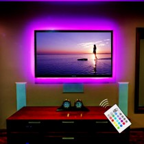 Toplus- Kit de 300 luces LED impermeable de 16.4 pies que cambian de color con control remoto + 12V 5A Power Supply + IR Control Box