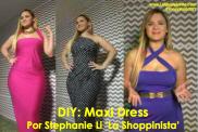 DIY: Como Crear Maxi Dress Sin Cortar y Sin Coser