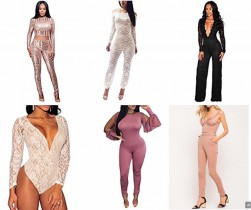 Fashion Jumpsuits & Bodysuits (Nude, Black, Rose, White, Red, Blue)