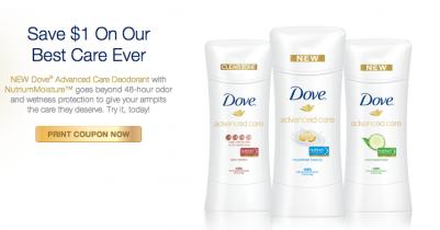 Cupón de Descuento Para Imprimir: Dove Advanced Care Odorant