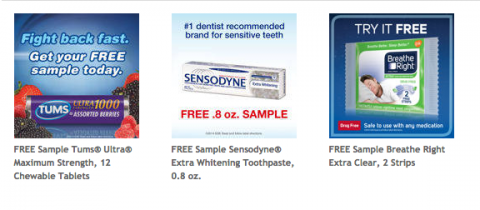 Muestras Gratis de Sensodyne, Tums y Breath Right en Costco