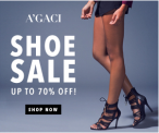 A'GACI shoe sale! Save up to 70%