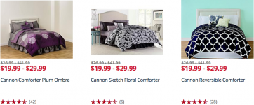 $19.99 Cannon Comforters