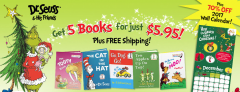 Dr. Seuss – 5 Books for $5.95 & Freebies