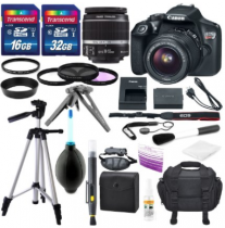 Canon EOS Rebel T6 DSLR Camera with EF-S 18-55mm f/3.5-5.6 IS II Lens, Along with 32GB SDHC, and Deluxe Accessory Bundle – Black Friday Sale