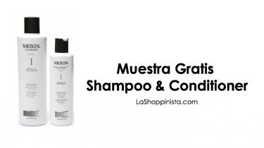 Muestra gratis de Shampoo y Conditioner Nioxin