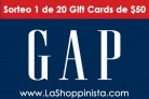 Sorteo 1 de 20 tarjetas de regalo $50 en Gap