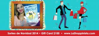Sorteo Internacional de Navidad 2014- Gift Card $100