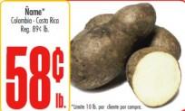 Compra Inteligentemente con los Especiales Shoppinistas: Ñame a .58 /lb.