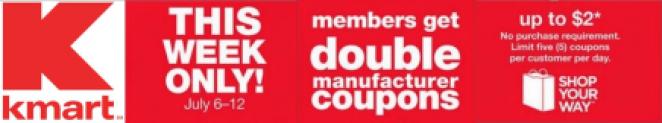 Evento Duplicar Cupones en Kmart 6 de julio-12