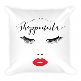 Smart & Beautiful Shoppinista Pillow