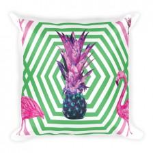 Flamingo Pineapple Fever JUMBO Reversible Pillow
