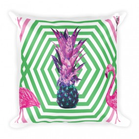 Flamingo Pineapple Fever JUMBO Reversible Pillow