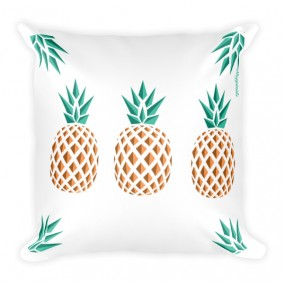 Three Pineapple Fever JUMBO Reversible Pillow