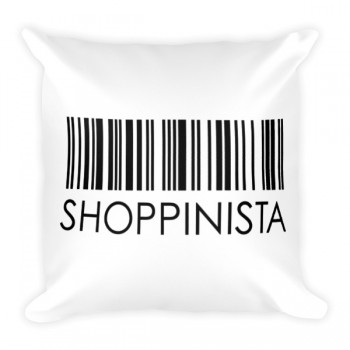 Shoppinista Barcode – Square Pillow