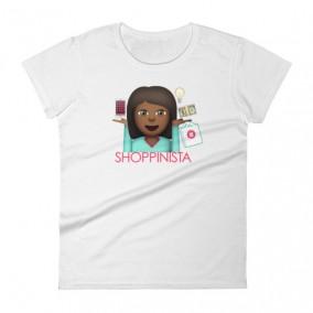 Shoppinista Emoji Woman TShirt – Black