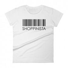 Shoppinista Barcode – Women's short sleeve t-shirt