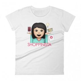 Shoppinista Emoji Woman TShirt – Black Hair