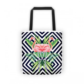 Flamingo Stripes Tote Bag