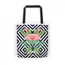 Flamingo Stripes Tote Bag