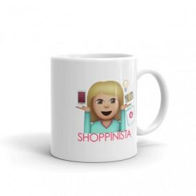 Shoppinista Emoji Woman Mug – Blonde