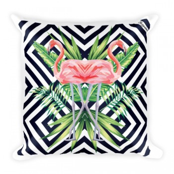 Flamingo Stripes JUMBO Pillow