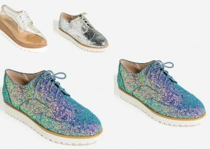 Oxford Woman Shoes – Holographic Glitter, Silver & Clear