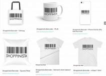 Shoppinista Barcode (Tazas, Bolso Reusable, Cojin, Tshirts & iPhone Cover)