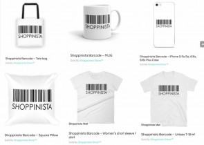 Shoppinista Barcode (Tazas, Bolso Reusable, Cojin, Tshirts & iPhone Cover)