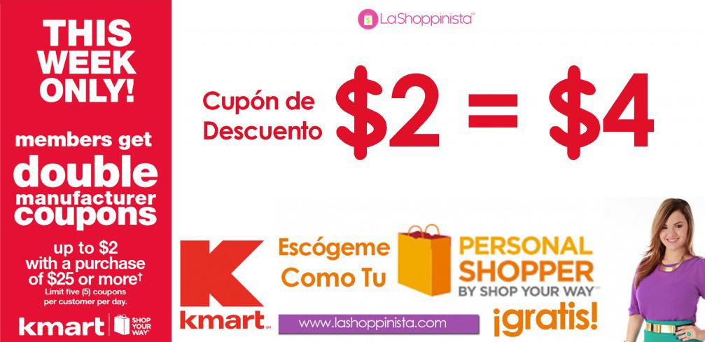 Kmart Double Coupon Event- Evento de Cupones Duplicados en Kmart- Actualizado