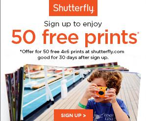 Shutterfly – 50 Free Prints